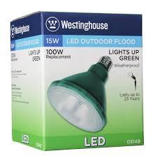 westinghouse par38 15 watt replaces 100 watt medium base green
