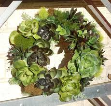 faux succulent wreath artificial succulent wreath green