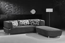 Black Microfiber Sectional Sofa Living Room Grrey Microfiber Sectional For