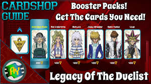 yu gi oh legacy of the duelist card shop guide