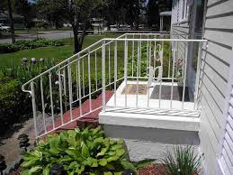 Exterior Stair Railing by Decorations Delightful White Exterior Staircase Design With
