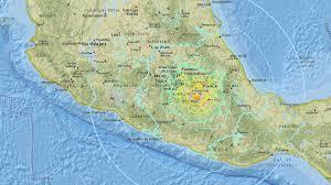 Mexico On Map Photos Powerful Earthquake Hits Central Mexico Kabc7 Photos And