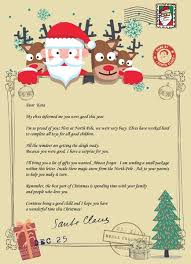 model gold original santa claus letter certificate snow
