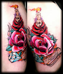 new bird tattoo flash rose tattoo skull flickr red skull