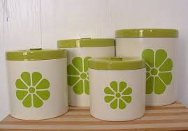 green kitchen canister set kitchen canister set with lids lime green by timelesschick 45 00