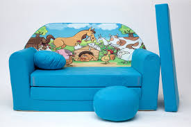 kids sofa bed 168cm futon childs furniture free pouffe