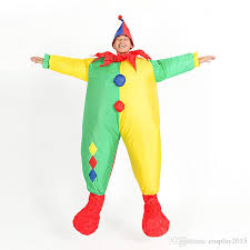 Blow Halloween Costumes Lyjenny Circus Clown Inflatable Blow Color Body