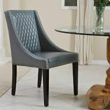 mandolin quilted grey leather chair single by christopher knight