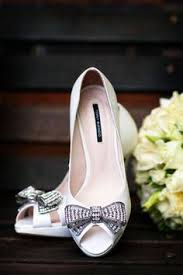 Bridal Shoes And Lace Trim On Wedding Gown Classic Southern