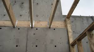 structure wood to concrete home building in vancouver