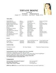 musical theatre resume exles theatre resume templates medicina bg info