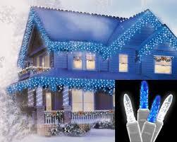 white icicle christmas lights set of 70 led blue and white m5 icicle christmas lights white wire