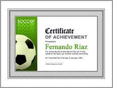 award certificate samples soccer awards certificate template soccer award certificates