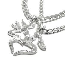 buck and doe couples necklace his and hers buck n doe couples necklace set with heart