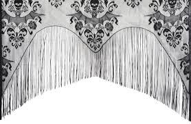 Black And White Damask Curtain Halloween Curtain Decorations U0026 Props