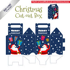 mega collection of 38 cut out christmas box templates