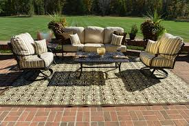 serena 5 piece luxury cast aluminum patio furniture deep seating