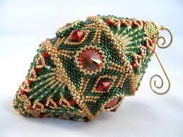 p pattern tutorial beaded ornament 25 00 via etsy
