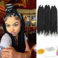 what kind hair use boxbraids stunning box braids hair inch pack crochet extensions pic of kinda