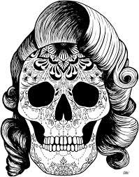 pinup sugar skull by welshpixie on deviantart