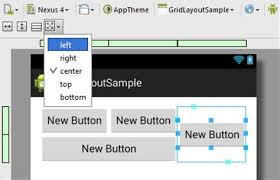 grid layout for android grid layout in android studio