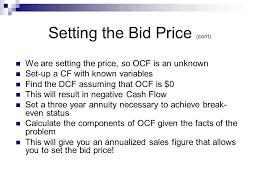 bid price f305 intermediate corporate finance ppt