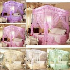 discount queen size canopy bedding romantic corner post bed