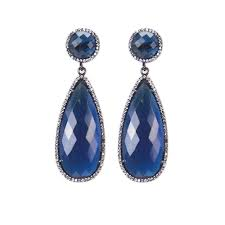 sapphire blue drop earrings susan hanover designs