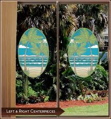 beach stained glass stained glass window decal palm tree decal