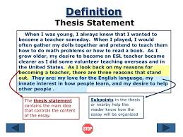 thesis of an essay Free Essays and Papers