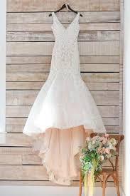 modest v neck mermaid long sleeveless lace appliques wedding