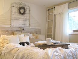 bedroom black cat white curtain wood ladder coffee table wall black cat white curtain wood ladder coffee table wall ornament glass window plaid pillow cup book soft bed cover rustic bedroom ideas