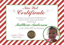 diy print santa note nice list santa certificate diy print