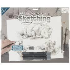royal u0026 langnickel sketching made easy large kit walmart com