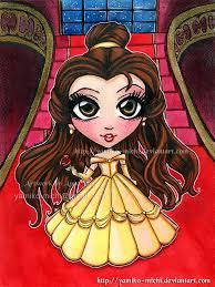 belle beauty beast fan art chibi yamiko michi deviantart