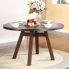 dark brown round kitchen table round glass top dining table with curvy dark brown wooden base