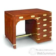 le de bureau ancienne en laiton meuble bureau ancien bureau acajou massif avec barre repose pied
