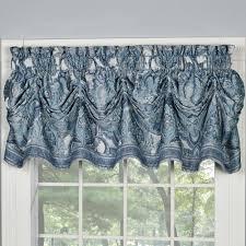 Blue Valances Window Treatments Arabelle Blue Tuck Valance Window Treatment