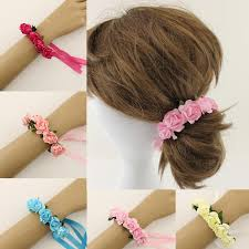 decorative headbands fashion x gift women headbands ribbon bracelets with paper