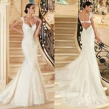 trumpet wedding dresses lace trumpet wedding dresses 2015 sweetheart cap sleeves appliques