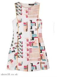abstract pattern sleeveless dress attractive prices cheaper rates womens shift dress abstract pattern