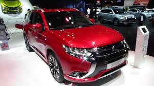 red mitsubishi outlander 2017 mitsubishi outlander phev exterior and interior paris