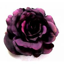 hair corsage plum purple hair flower on hair elastic large statement peony