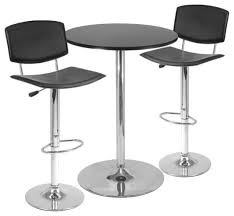 Indoor Bistro Table And 2 Chairs Black Metal Spectrum 3pc Pub Table Set 28