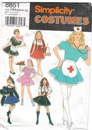 simplicity halloween costume patterns simplicity pattern 8851 costumes nurse waitress maid