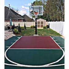 Half Court Basketball Dimensions For A Backyard by Outdoor Sports Tiles Discount Outdoor Gym Tiles