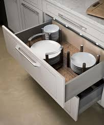 awesome kitchen drawer peg system for plate storage 5308