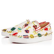 pik boat men u0027s flat white canvas men shoes christian louboutin