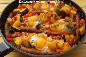 la cuisine de mes envies délicieusement simple la chakchouka merguez et oeuf cuisine