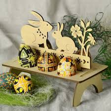 wooden easter eggs 2018 bunny embellished wooden easter egg stand wood in other